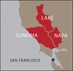 Sonoma appellations map