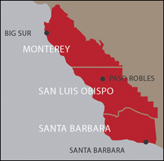 San Luis Obispo County appellations map